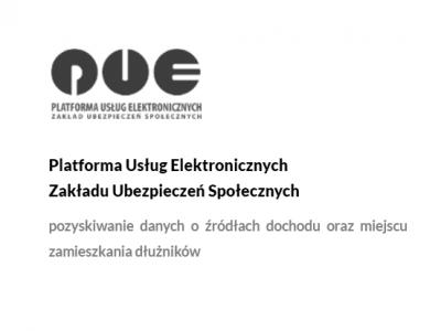Platforma Usług ElektronicznychZakładu Ubezpieczeń Społecznych